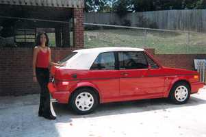 "Aixa's first car remains her all-time ""dream ride"": Red Volkswagen Cabriolet"