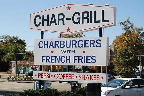 Aixa's favorite burger joint? Char-Grill in Raleigh, NC