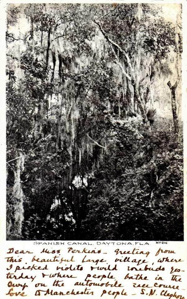 The Spanish canal near Daytona Beach in 1907.