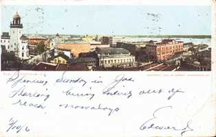 A postcard dated 1906 shows the city of Jacksonville.