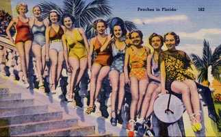 The Peaches in Florida in 1950.