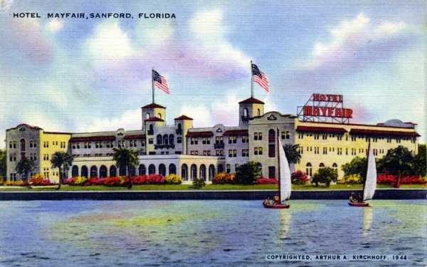 The Hotel Mayfair in Sanford in 1944.