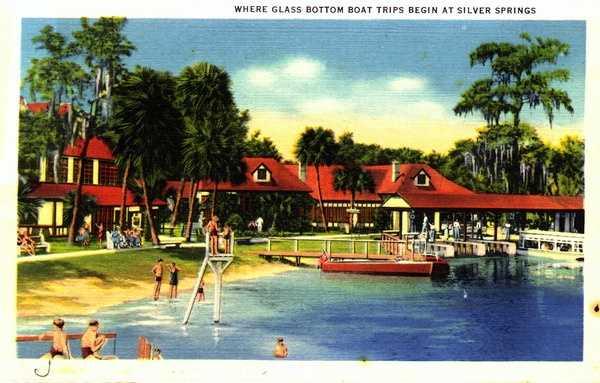 Where glass bottom boat trips begin -- Silver Springs.