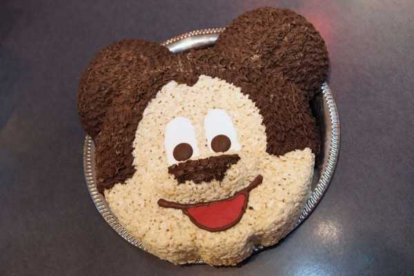 Mickey Mouse Rice Krispie treat