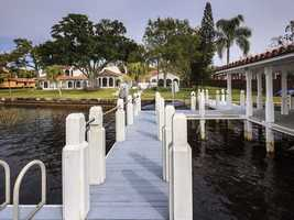 Private boat dock.