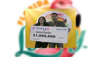 Annissa Ramdeo, of West Park, claimed a $1 million POWERBALL prize.