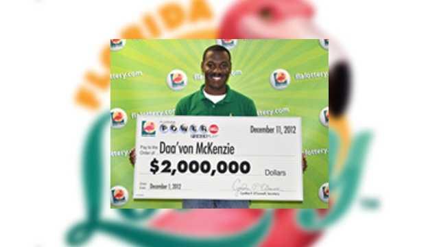 Daa'von McKenzie, of Kissimmee, won $2 million.