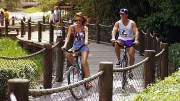Bike Rentals: Stroll your way through Disney's lush meadows, canals and more. And you don't have to pedal alone, Disney has 2, 4 and even 6-person Surrey bikes perfect for the whole family.Price: $18 all dayLocation: Disney's Fort Wilderness Resort & CampgroundDisney's Port Orleans Riverside ResortDisney's Old Key West ResortDisney's Caribbean Beach ResortDisney's Boardwalk Inn and Villas