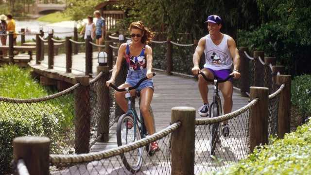 Bike Rentals: Stroll your way through Disney's lush meadows, canals and more. And you don't have to pedal alone, Disney has 2, 4 and even 6-person Surrey bikes perfect for the whole family. Price: $18 all dayLocation: Disney's Fort Wilderness Resort & CampgroundDisney's Port Orleans Riverside ResortDisney's Old Key West ResortDisney's Caribbean Beach ResortDisney's Boardwalk  Inn and Villas