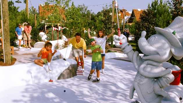 Miniature Golf: If tennis isn't your thing, grab a club and putt putt. Guest can switch up the scenery and choose from Fantasia Gardens or Winter Summerland.Price: Adult: $14 plus tax, $12 for children 3-9Location: Fantasia Gardens- Walt Disney World Swan Hotel Winter Summerland-Disney's Blizzard Beach Water Park