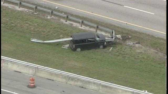 The crash happened on the Dolphin Expressway in the Miami area Tuesday morning.