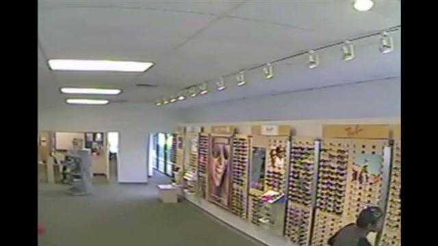 Raw Video: Woman stole glasses, concealed them in baby's pants