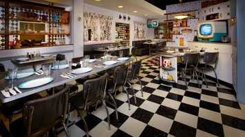 Where: 50's Prime Time Cafe at Disney's Hollywood StudiosWhat: Try the Peanut Butter and Jelly shake.