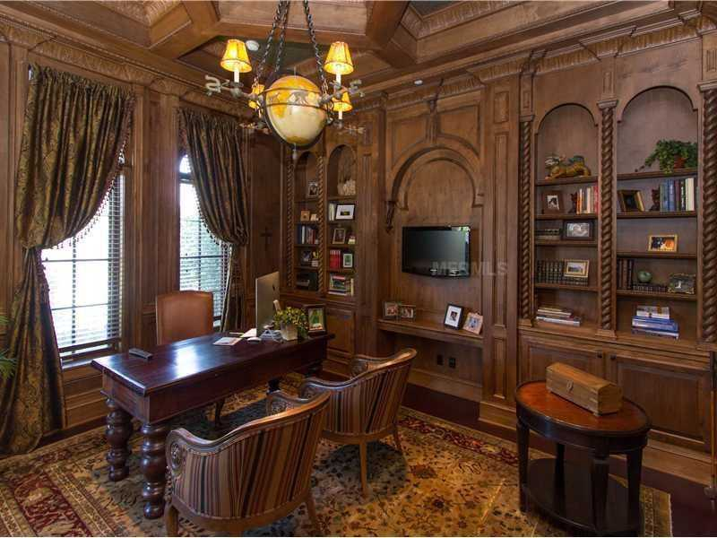This office features exquisite architecture and design.