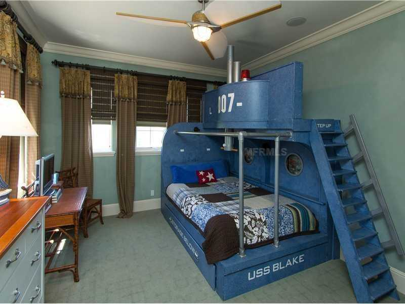 This boy's room features a custom bunk-bed, likely to not be sold with the home, but it provides inspiration for what this space can be.