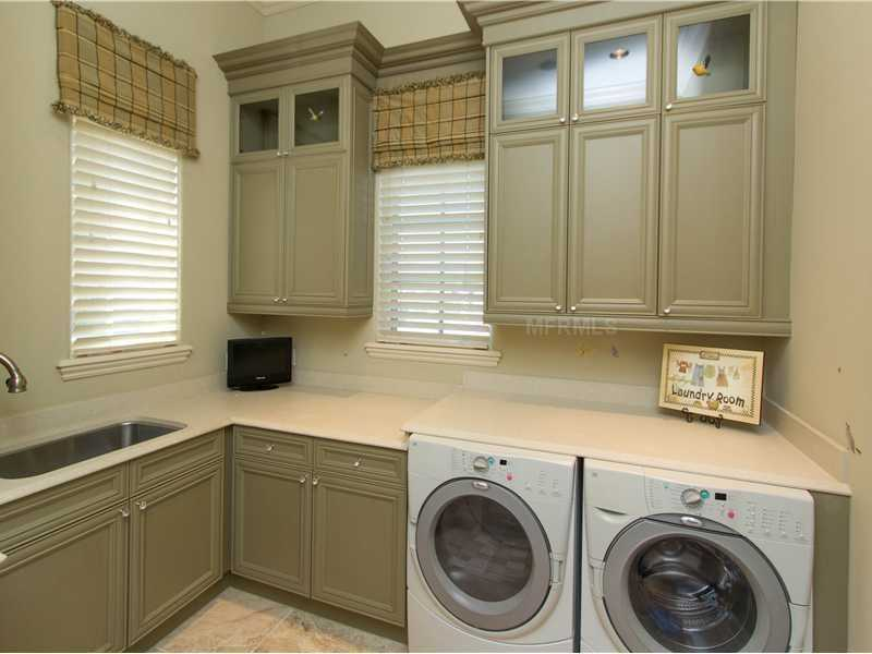A spacious laundry room for all your family needs.