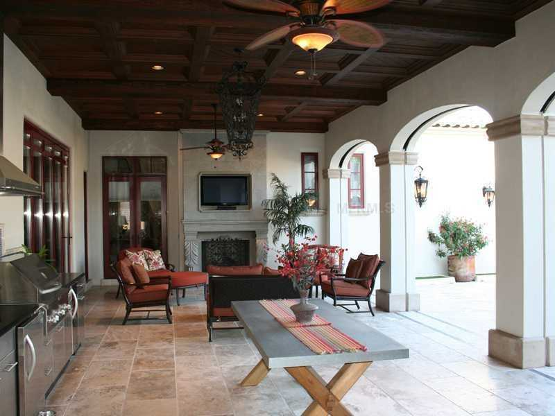 Outdoor patio features every amenity to make entertaining easy.