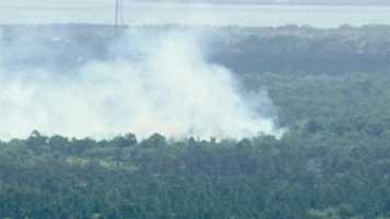A 460-acre fire is causing poor driving conditions in Marion County.