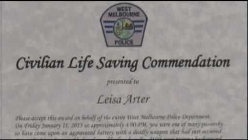 Nurse honored for saving man from knife attack