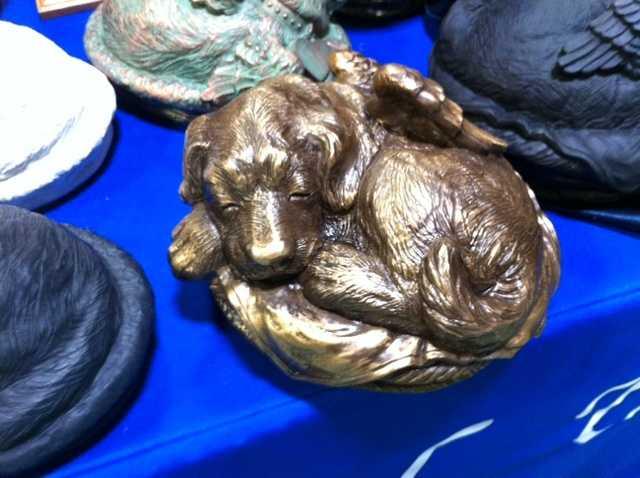 A dog urn.