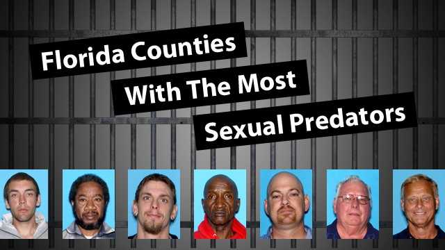 """See the Florida counties with the most people listed as """"sexual predators."""" A sexual predator is a person who has been convicted of a sexually violent offense as defined in Florida Statute 775.21. Under Florida law, sexual offenders are considered to pose a high risk of engaging in sexual offenses even after being released from incarceration or commitment."""