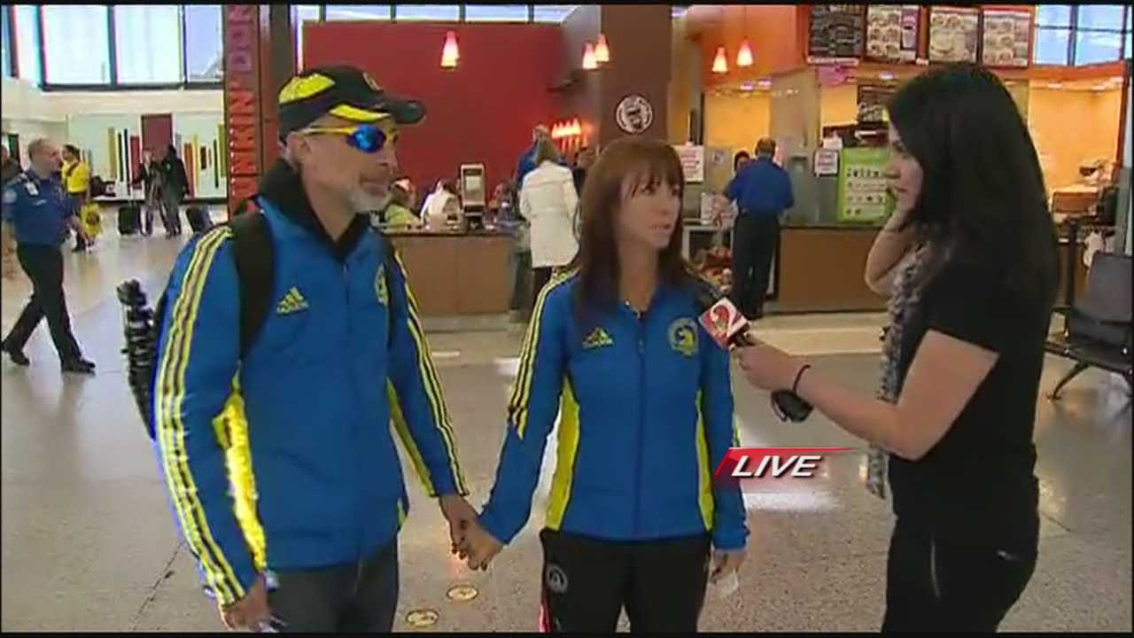 A Florida couple who ran the Boston Marathon reflects on the explosions that rocked the finish line, and the good people who helped them and others in the aftermath.