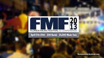 12th Annual Florida Music Festival: The music festival started Thursday and wraps up on Sunday. It features more than 200 bands at 25 Wall Street Plaza in Orlando.