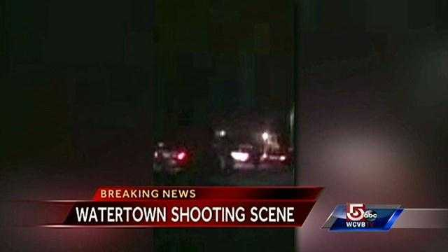 A NewsCenter 5 viewer sent in uncut video of a shootout between police and at least one suspect in the streets of Watertown, Massachusetts.
