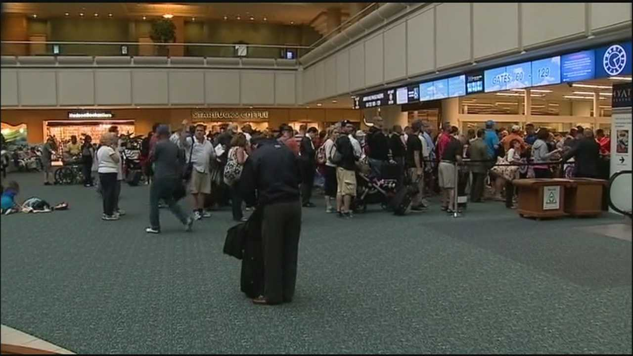 The sequester is causing some flights to be delayed at airports across the country.