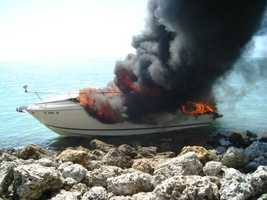 4. Palm Beach County - 49 accidents and zero fatalities out of 38,363 registered vessels.