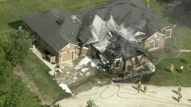 Fire tore through a home in Orange County Friday afternoon.
