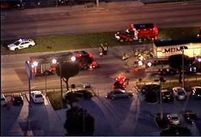 A serious crash closed part of West State Road 50 Monday morning.