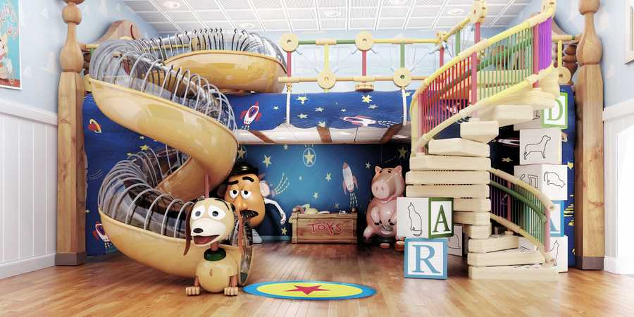 "Andy's Room, a new multi-level youth space in Disney's Oceaneer Club on the Disney Magic, brings the stars of the Disney-Pixar ""Toy Story"" film trilogy to life."