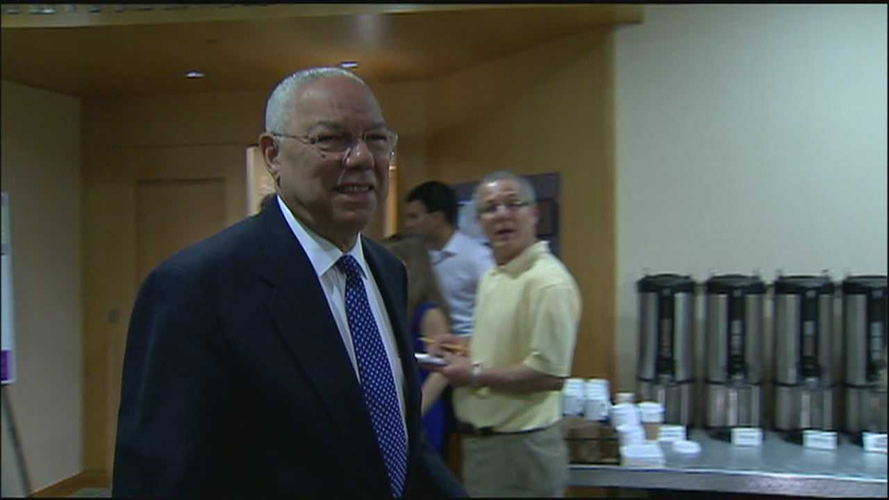 Retired four-star general Colin Powell attended a Boys and Girls Club conference in Orlando on Wednesday.