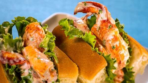A Maine lobster roll is also on the menu.