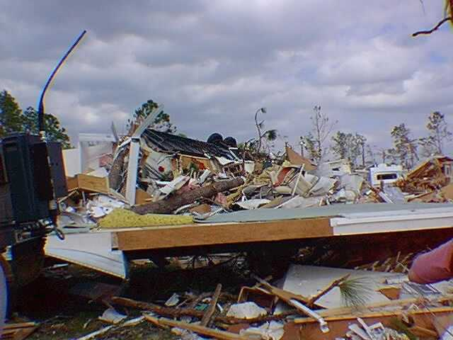 4. Feb. 23, 1998 – An EF3 tornado hits Seminole and Volusia counties at 12:10 a.m., killing 13 and injuring 36.