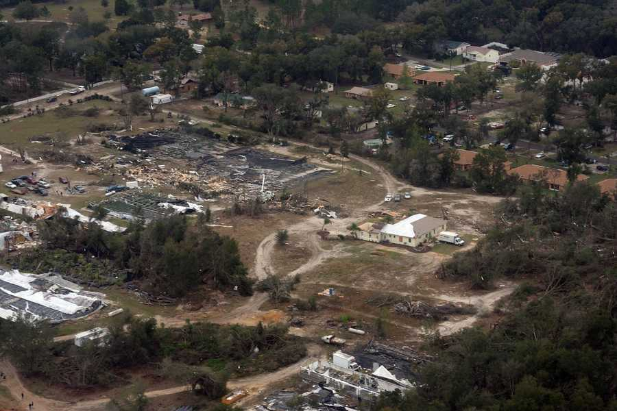 6. Feb. 2, 2007 – One of two deadly tornadoes recorded on Groundhog Day 2007, this EF3 touched down at 3:10 a.m. in Sumter and Lake counties, killing eight and injuring 25.