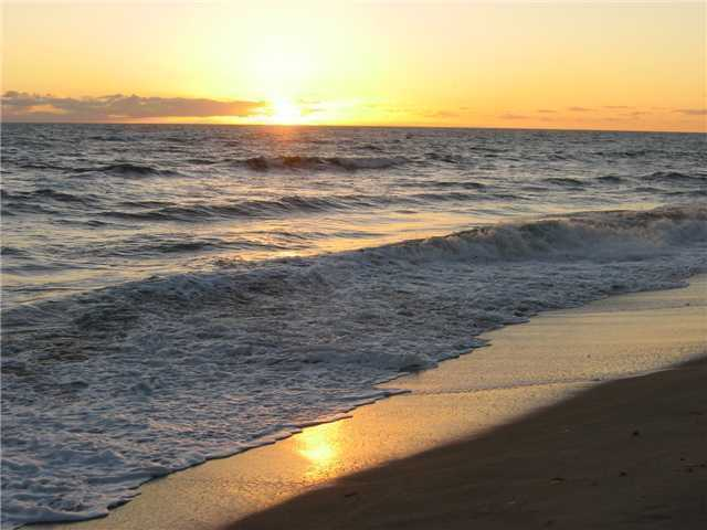 A perfect sunset is a regular occurrence for future home owners.
