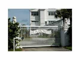 Last but not least, you'll feel totally safe behind your gated property. For more information on this property, please visit Realtor.com.