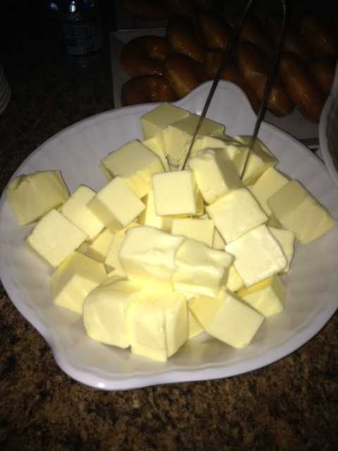 Butter, lots of butter.