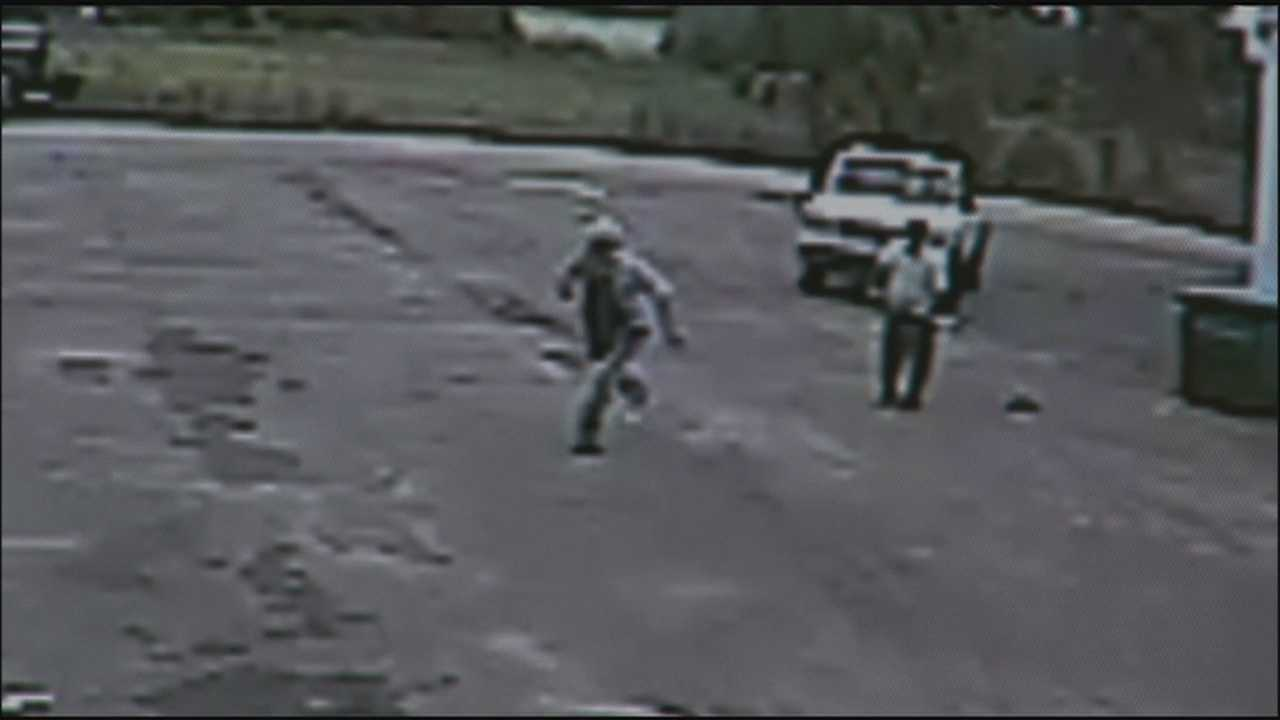 Surveillance video captures a confrontation involving two men and a sledgehammer in Sanford.