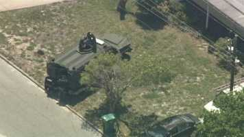 Police are on the scene of a standoff in Melbourne on Thursday.