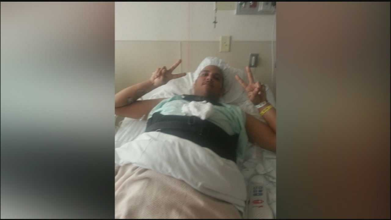 A man who was shot in a drive-by shooting three weeks ago in Sanford is still in rehab and dealing with paralysis.