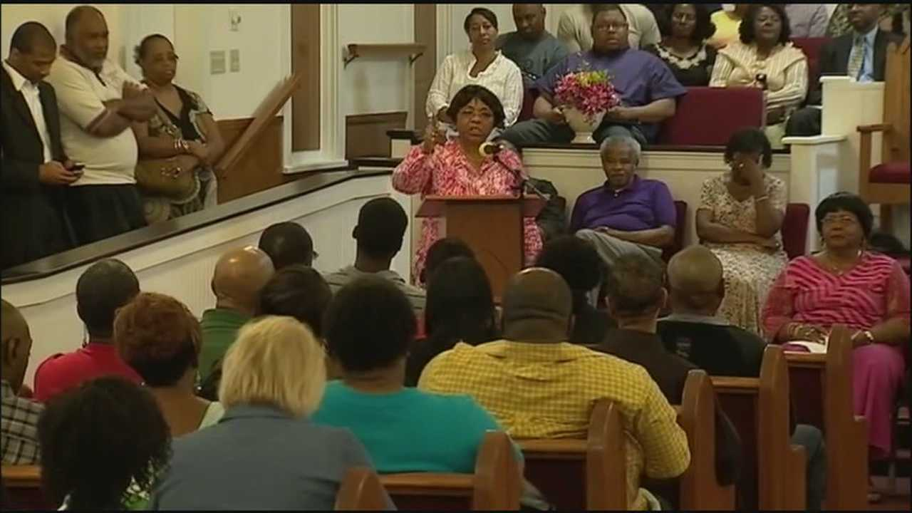 A group of outraged citizens gathered Monday night at the Greater Union First Baptist Church to call for change in DeLand.