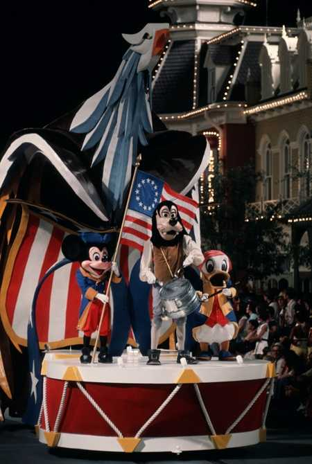 America on Parade ran from June 1975 until September 1976 and celebrated the Nation's bicentennial with a lot of red, white and blue.