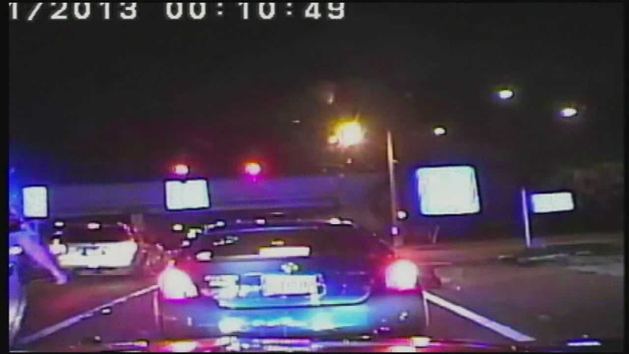 A dashcam video shows a driver pulling a vehicle away from a Florida Highway Patrol trooper's whose foot was near one of the moving wheels.