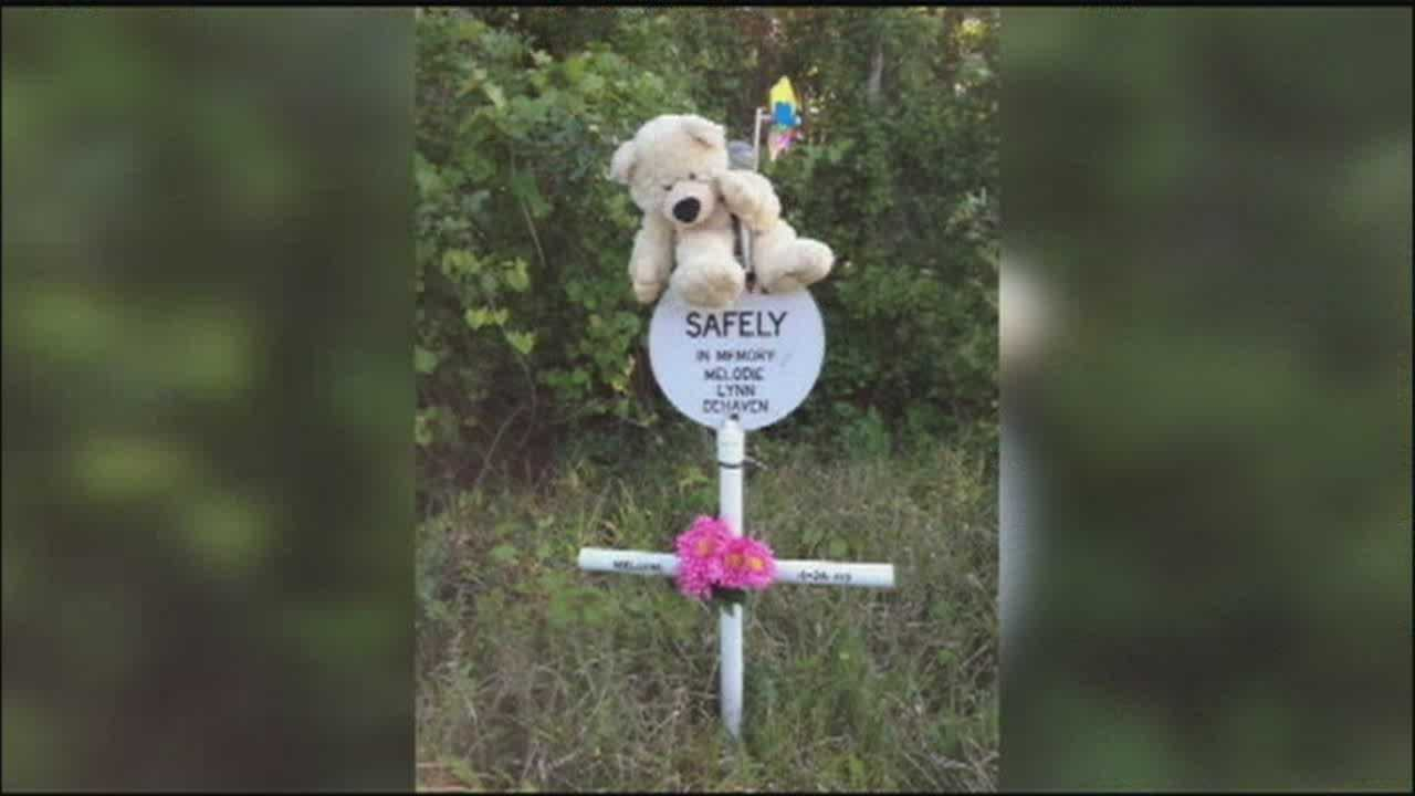 The decorations a woman placed by her daughter's roadside memorial were taken away by state officials, and she's disappointed by the move.