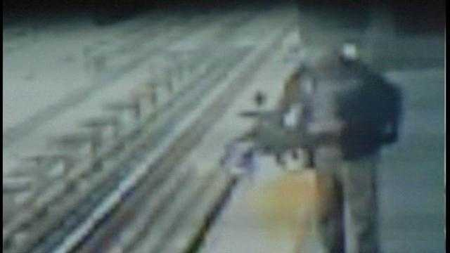 Surveillance video from Philadelphia shows terrifying moments when a stroller fell onto train tracks. A mother let go of the stroller for just a second and it rolled onto the tracks. The mother jumped down to save her 14-month-old girl who was hospitalize