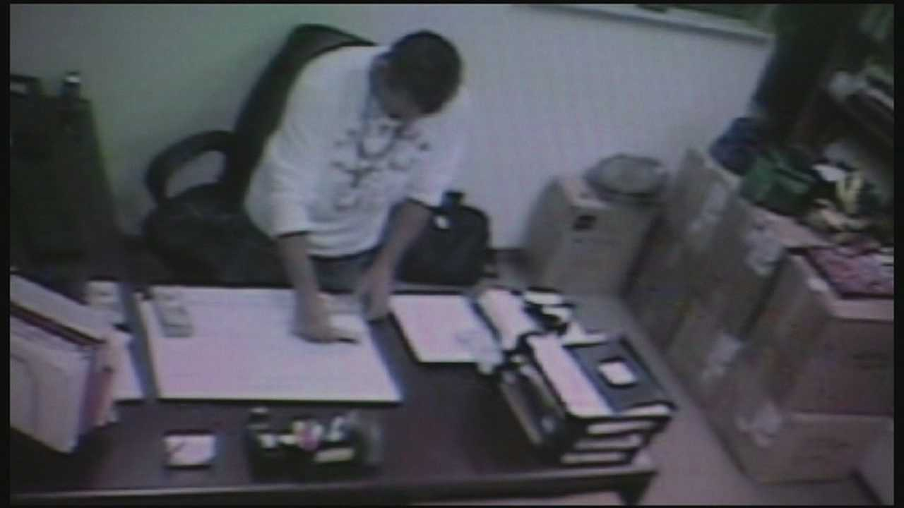 A Cape Canaveral employee didn't know his office was monitored by surveillance , but what the camera caught him doing led to his resignation.
