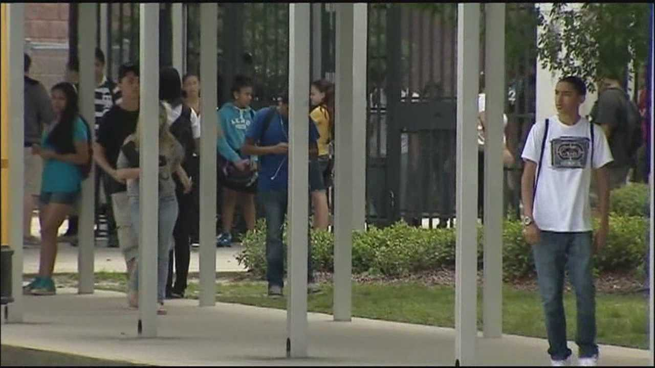 One school district is mulling over adding random security screenings for students for the 2013-2014 school year.